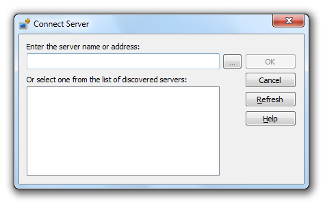 Connect Server Window