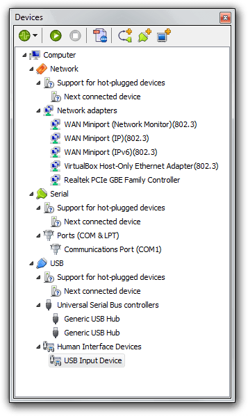 Devices Tool Window